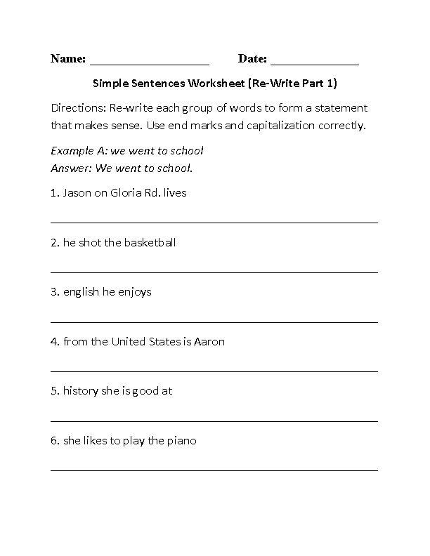 sentence writing activities ks1