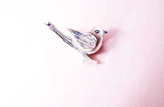 Bird jewelry handmade jewelry blue bird handmade gift