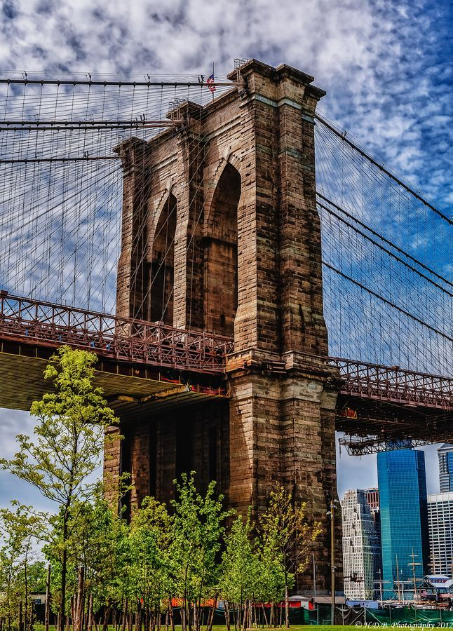 "Brooklyn Bridge - New York. ""The Brooklyn Bridge is a bridge in New York City and is one of the oldest suspension bridges in the United States."