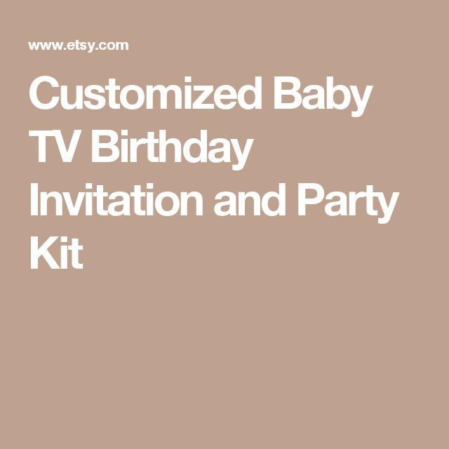 Customized Baby TV Birthday Invitation and Party Kit
