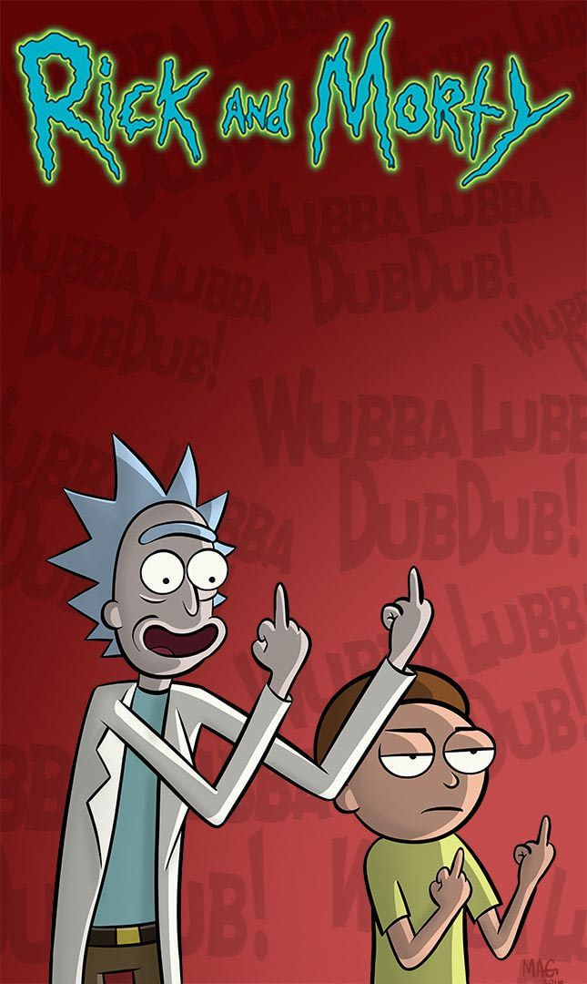 Resultado de imagen para rick and morty wallpaper hd