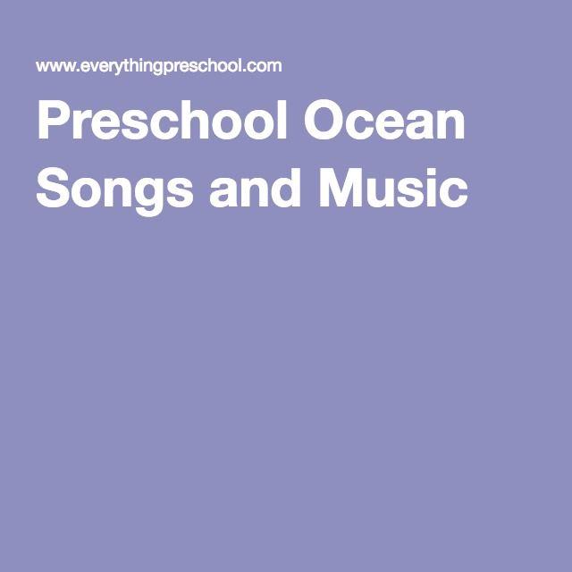 Preschool Ocean Songs and Music