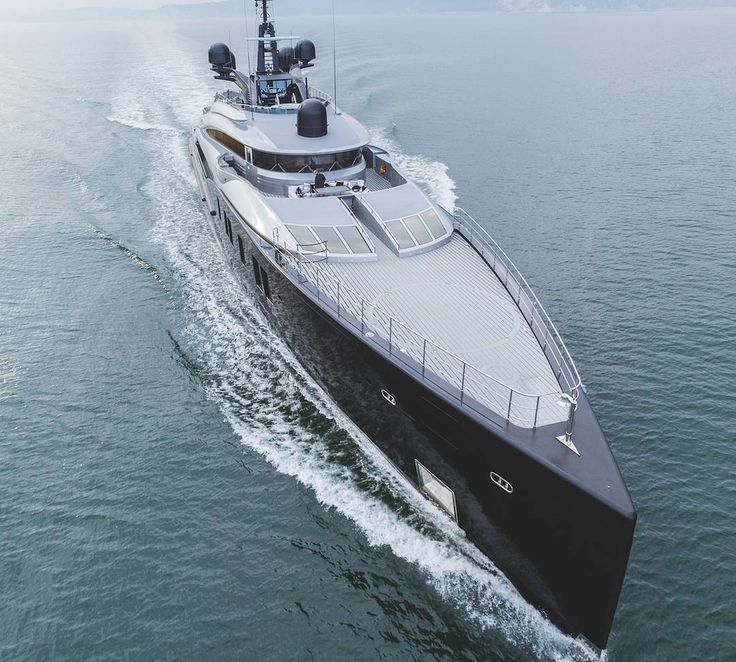 """This is the sublimely silent and serene 66m @ISAyachts' superyacht Okto... She just cuts through the water like a knife through a cake"""" says her captain Sebastian Gerads. Read @s.j.campbell's yacht report in the link in bio. #superyacht #ISAyachts #Okto #luxuryyacht #yachtlife #boatinternational"""