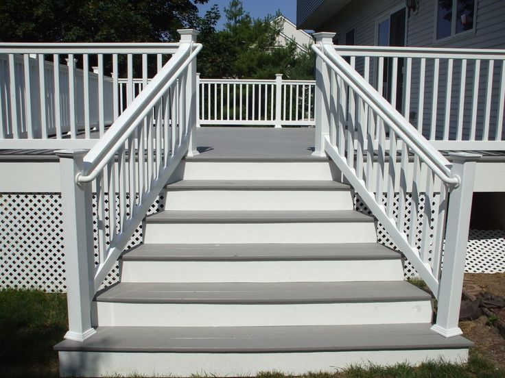 Best Gray Deck With White Railings Railing Posts And White 400 x 300