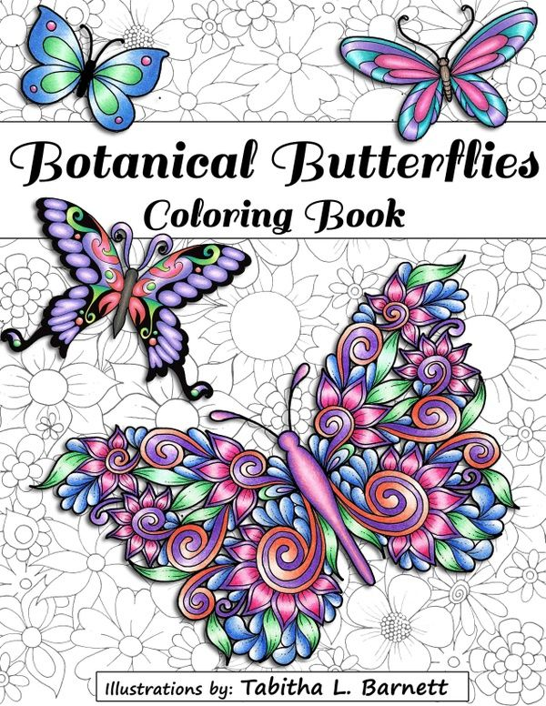 Botanical Butterflies Coloring Book PDF 58 Pages To Print And Color