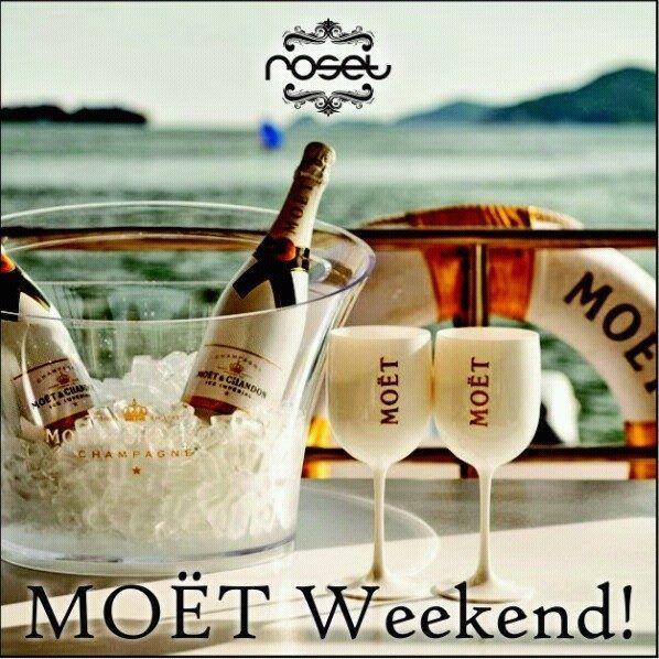 Con MOET CHANDON tus momentos son deliciosos! Fin de semana de precio especial!
