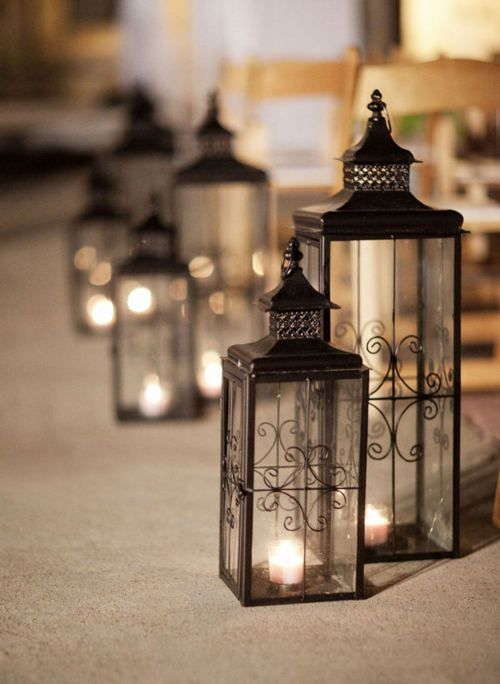Leave a path of light for me to follow. #lanterns #lamps #tealight #candles #black #light