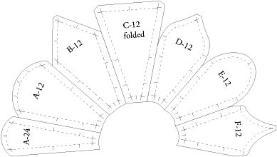 Inklingo blade variations in the Appliqué Shape Collection