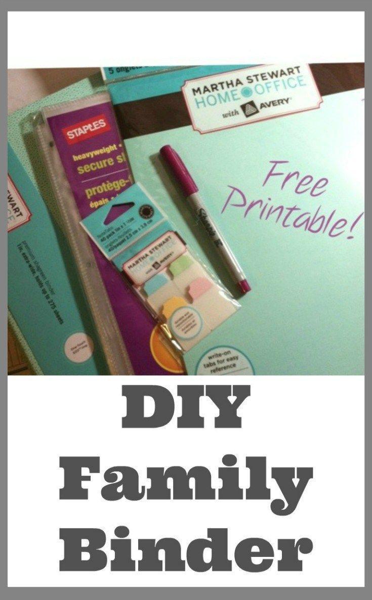Make your own DIY Family Binder
