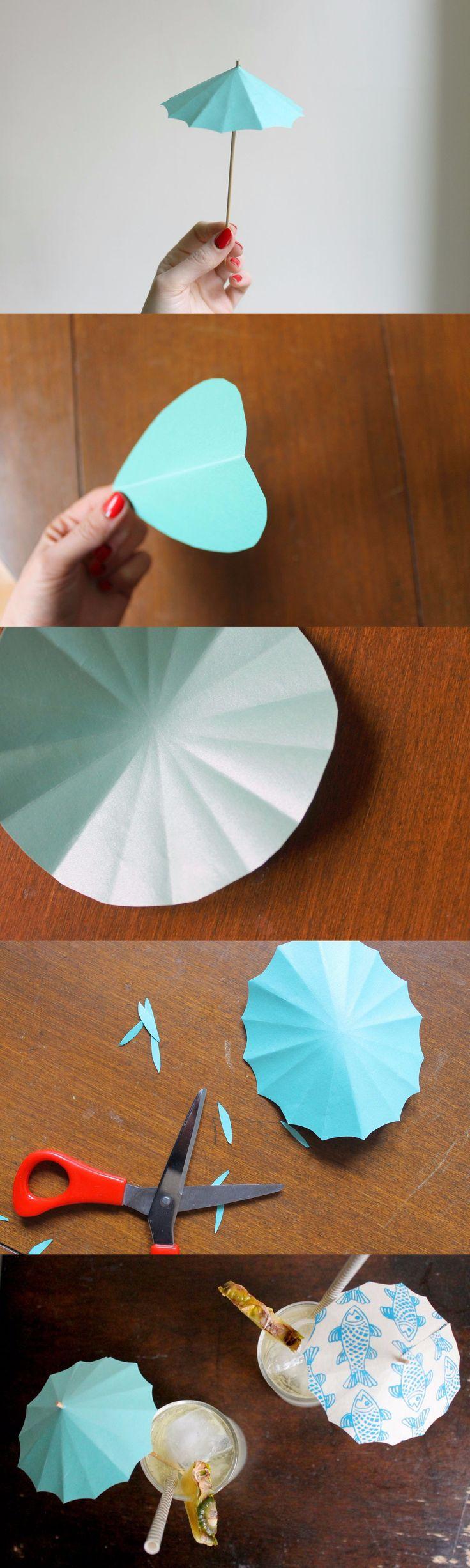 Tragos con sombrillas de papel. Hazlo tú misma / https://food52.com