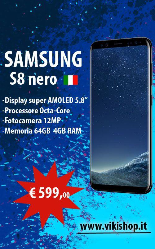SAMSUNG GALAXY S8 NERO ITALIA 64GB !♥♥♥ in Promozione !♥ Spedizione Gratuita !♥ ►Acquista Ora: https://lnkd.in/fyM4KhK #vikishop #samsungs8 #s8italia #samsungs8recensione #samsungitalia #s8italiaprezzo #samsungs8plus #samsungs8+