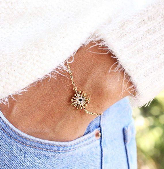 Evil Eye Bracelet Gold Evil Eye Bracelet Dainty Bracelet