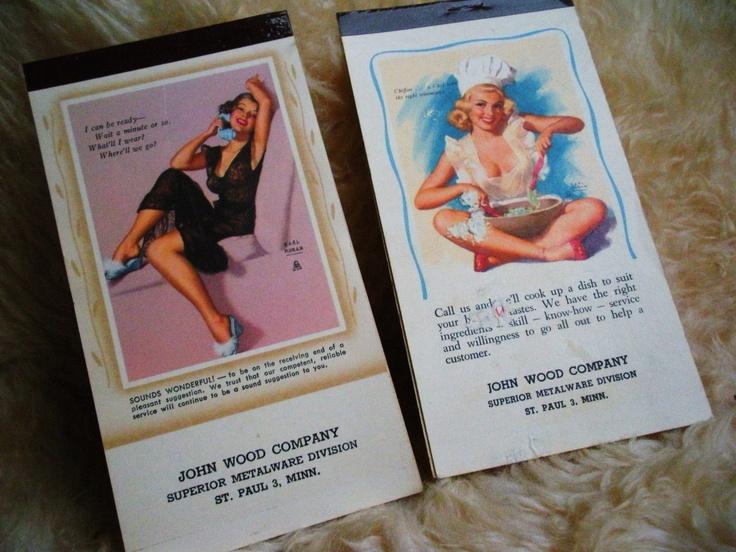2 More Naughty Earl Moran Pocket Calendars. $11.50, via Etsy.