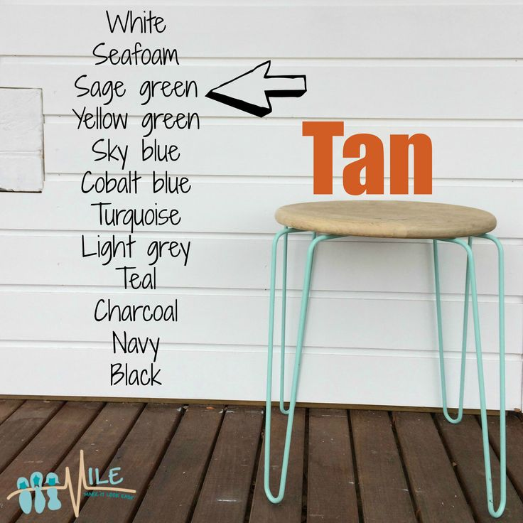 Tan goes with...