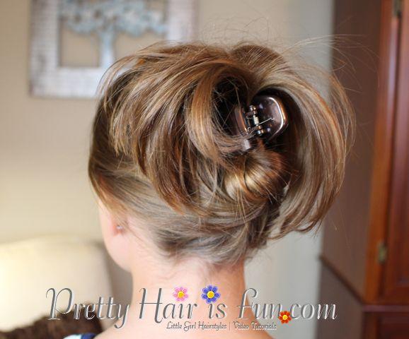 Beginner Hairdos- great for short hair | Short Hairstyles ...