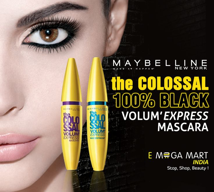 Create really big lashes, in one single coat.  100% Black Colossal Volume Mascara.(To Buy-Click on pic)#maybelline #maybellinenewyork #maybellineindia #maybellinecosmetics #maybellinemascara #maybellinemakeup #colossalvolumexpress #colossalvolume #Mascara #volumexpress #waterproofmascara #colossal #GreatLashes #Hypercurlmascara #washablemascara #pureblack #mascaras #mascarasjunkie #mascarasblack #blackmascara #eyemakeup #cosmetic #cosmetics #cosmeticproduct #beautyproduct #beautyproducts…