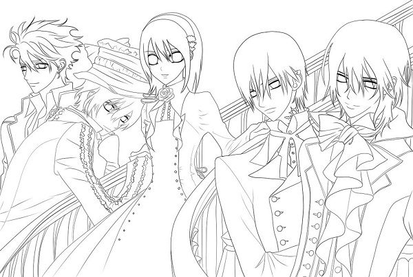 vampire anime coloring pages - photo#9
