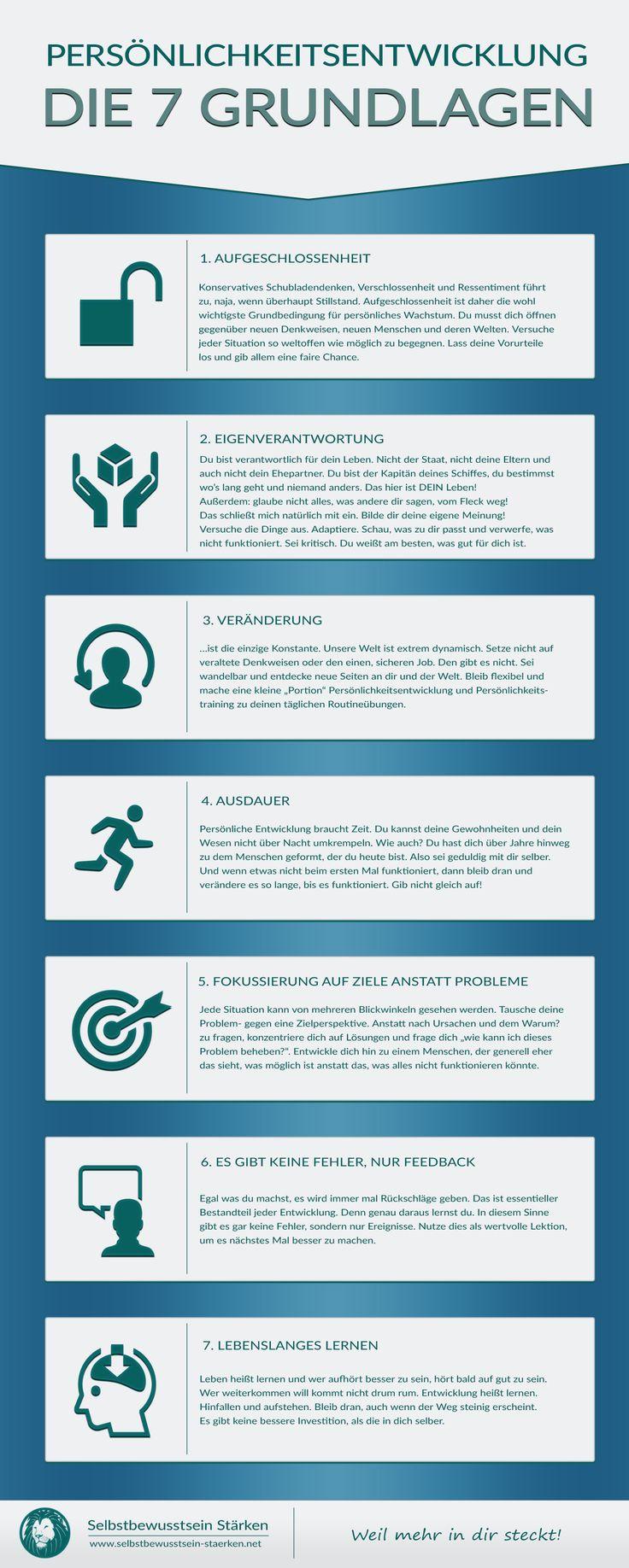 Die 7 Grundlagen der Persönlichkeitsentwicklung