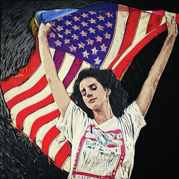 Lana Del Rey Lana Del Rey Art Lana Del Ray Portrait Illustration Digital Painting Lana Del Rey Poster Wall Art Am Lana Del Rey Art Lana Del Rey Lana Del