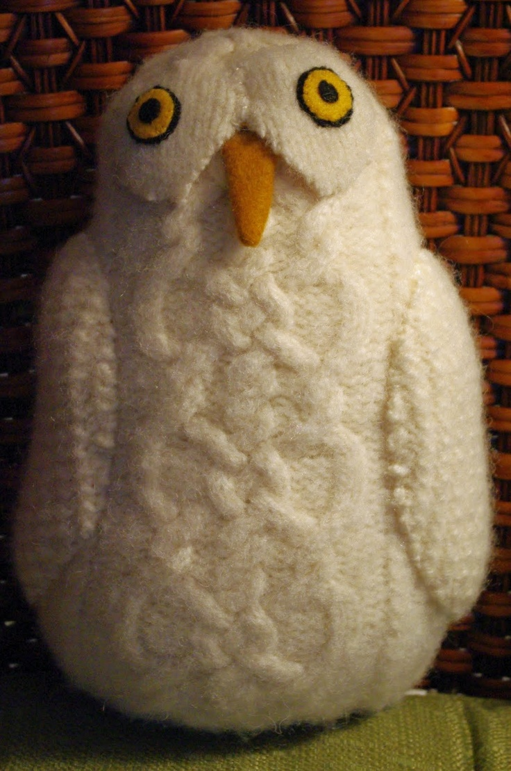 Jacq's Fibers: Owl from Recycled Sweater