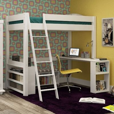 Cama Compacta Multifuncional Murine Branco - Urbe Móveis
