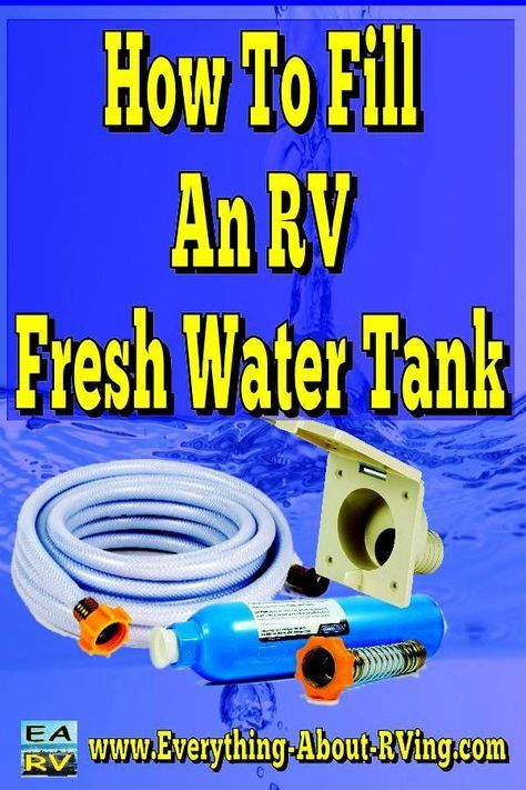 Here is our answer to: How To Fill An RV Fresh Water Tank. Depending on the type of RV you have there could be two different setups for filling up the fresh water and... Read More: http://www.everything-about-rving.com/how-to-fill-an-rv-fresh-water-tank.html