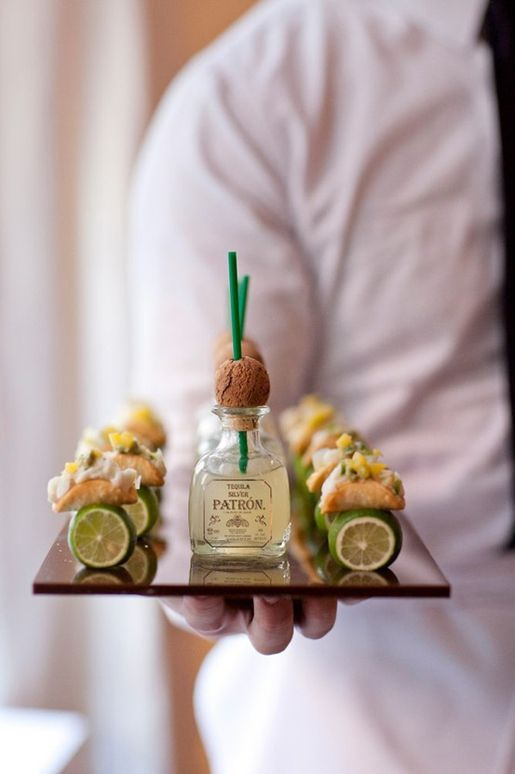 mini tacos and margaritas...so cute..what a great idea for apps at a party!