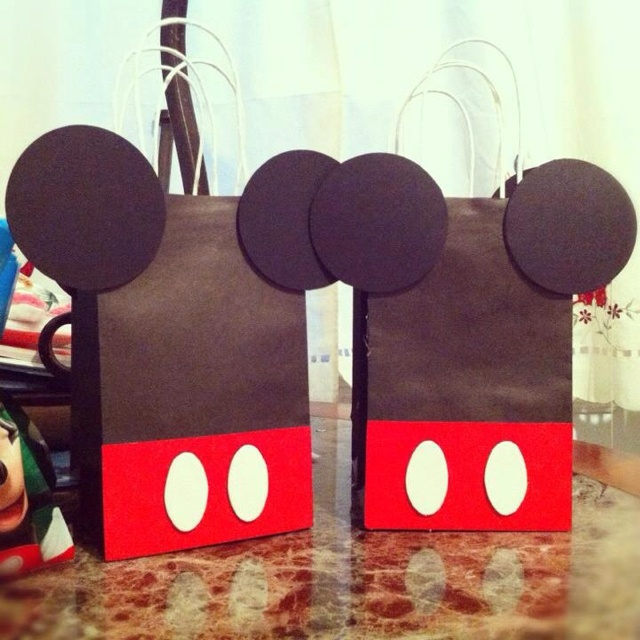 Mickey mouse birthday treat bags