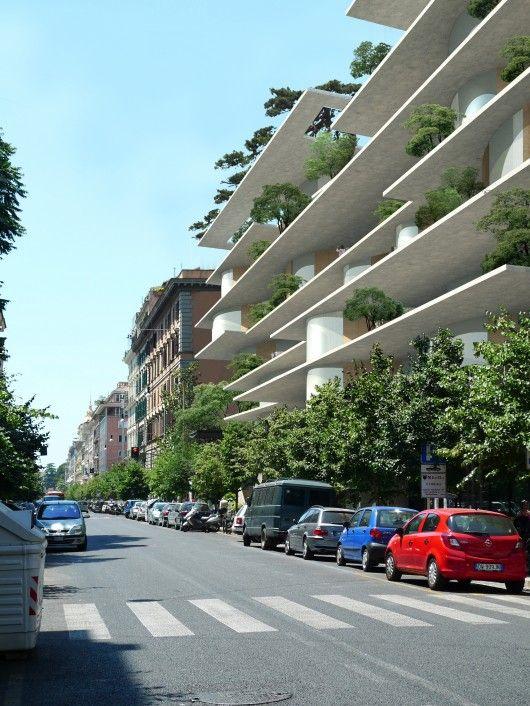 (non-tropic) 71 Via Boncompagni, Rome. MAD Architects   'bookshelf' structure