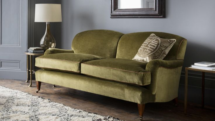 "The Brooke sofa has been designed to create a beautiful and comfortable ""English country house"" sofa, perfectly proportioned for a smaller room."