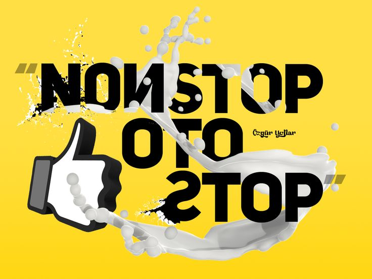Nonstop Otostop Hitchhike Typography