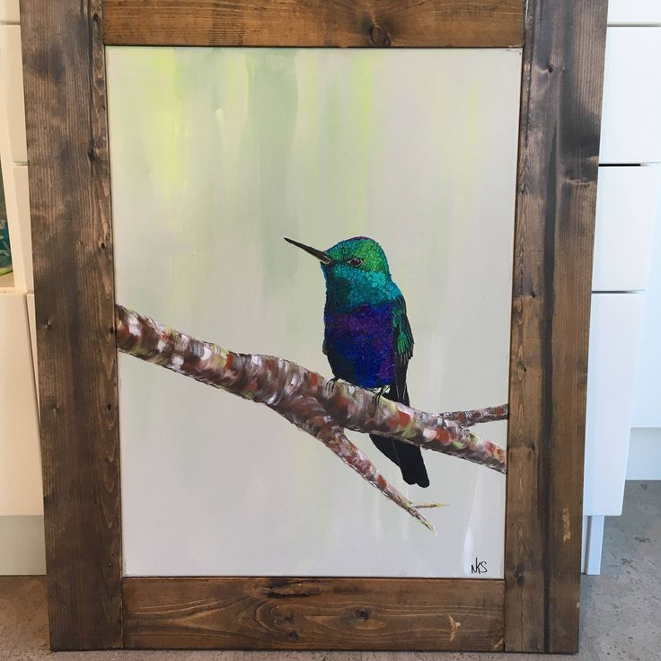 A personal favorite from my Etsy shop https://www.etsy.com/ca/listing/568405799/purple-hummingbird