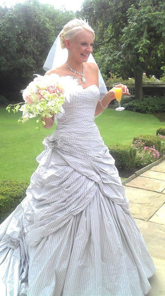 Lucy Nixon wearing Libertine Wedding Dress by Ian Stuart the only full bottom strapless dress I would consider