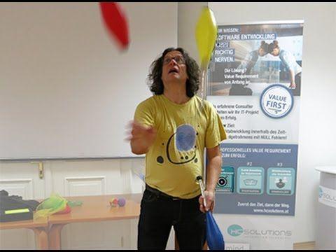 Jonglieren als Gehirnjogging für unsere Mitarbeiter/-Innen :)