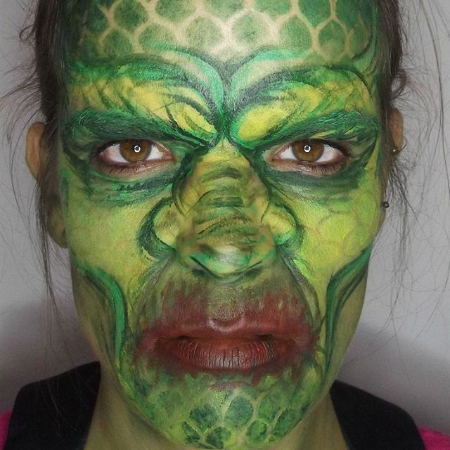 Sea Monster Halloween makeup. Creature of the Black Lagoon inspired