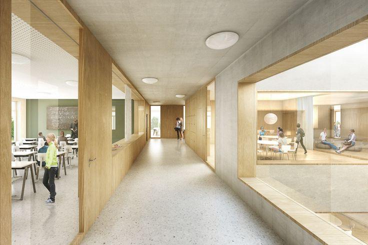 architect: Masswerk Architekten, ZürichSecondary School Burghalde, Baden, Switzerland1st prize in competition