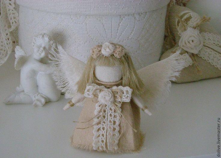 """Купить Куколка """"Винтажный ангел"""" - бежевый, ангел, ангелочек, винтаж, винтажный стиль, ангел-хранитель"""