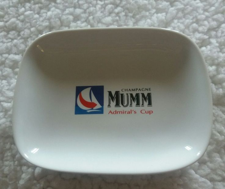 REVOL FRANCE FRENCH CHAMPAGNE MUMM ADMIRAL'S CUP COWES WEEK DISH PORCELAIN
