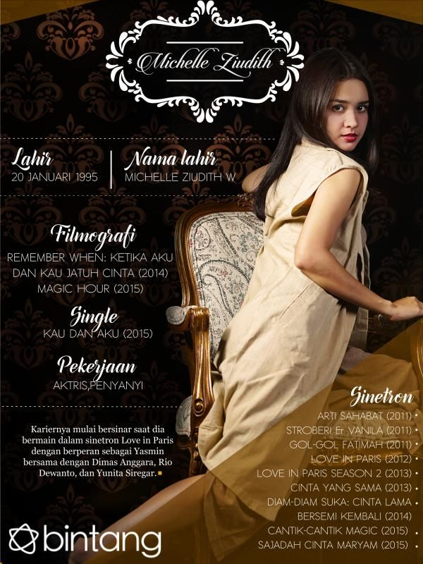 Mengawali karir sebagai pemain sinetron Arti Sahabat (2011), namanya semakin sering muncul di layar kaca. Bagaimana lengkapnya perjalanan karir Michelle Ziudith? Berikut rangkumannya! #MichelleZiudith #Aktris #CelebBio #Bintang #Indonesia