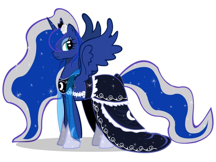 Princess Luna Gala Dress Or Wedding Dress Mlp Princesses Pinterest Beautiful Ponies