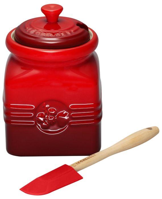 Le Creuset - Marmeladekrukke med ske