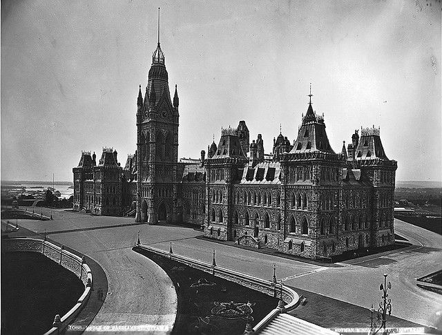 House of Parliament, Ottawa, ON, about 1878. #vintage #Canada #Victorian