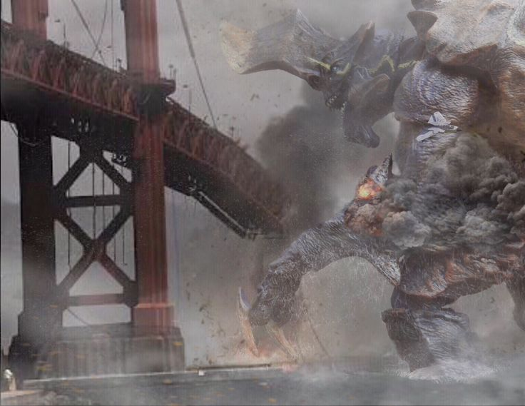 K-DAY. August 10, 2013. San Francisco mourn as a Kaiju destroys Golden Gate bridge before attacking the city. NECA Action Figure by Pacific Shatterdome. IG: pacific_shatterdome.