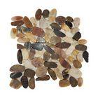 Polished River Pebble Tile, 10 pieces - Farmhouse - Mosaic Tile - by Sunny Pebbles