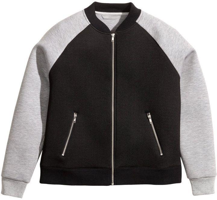 H&M - H&M+ Scuba Jacket - Black - Ladies