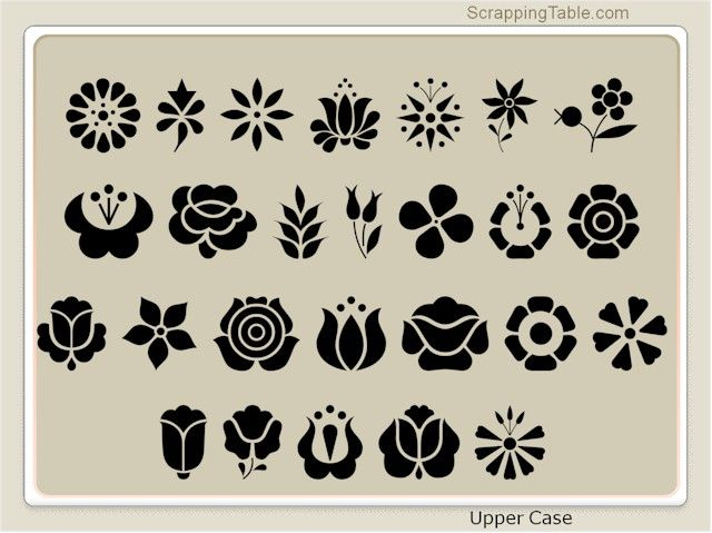 ScrappingTable.com provides free dingbats to provide you with a wide variety of shapes you can use with your Sure Cuts A Lot software program.
