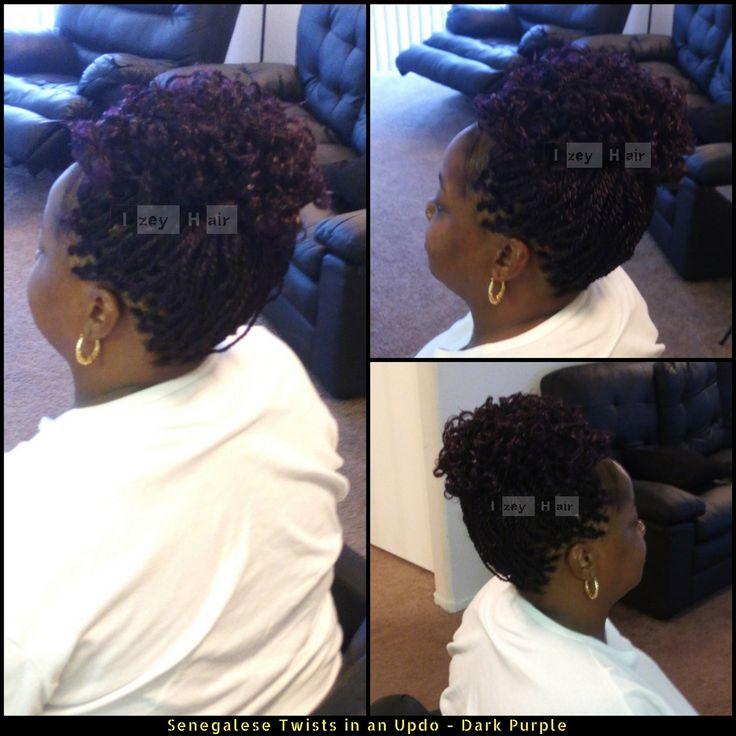 Senegalese Twists in an Updo - Dark Purple  .  .  .  .  .  .  .  .  .  #SenegaleseTwists #ProtectiveStyles #HairDo #UpDo #ProtectiveStyle #BraidingTwists #MicroTwist #Bigtwists #DarkPurple #PurpleBraids #PurpleHighlights #LongTwists #BraidStyles #HairStyles #BlackHairStyles #SenegaleseTwist #Braids #Braiding #HairBraiding #AfricanBraids #ProtectiveStyling #HairStylist #AfricanBraiding #HairExtensions #HairBraider #Braider #IzeyHair