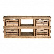 Storage rack with 4 removable boxes