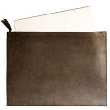 "Labrador Leather Softcase, large $99.95 - designed for 15"" laptops and A3 documents. #labrador #leathercase #laptopcase"