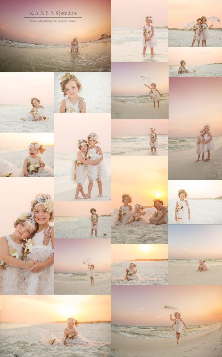 CREAM is the new white...perfect for 2 little girls.  If paired with a brother, brother should wear light blue...parents in pastels & cream combos...maybe incorporating the light blue of boy if in it